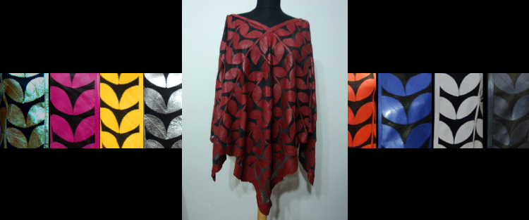 Leather Leaf Ponchos for Women [ Click to See Available Colors ]