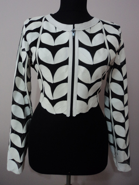 White Leather Leaf Bolero for Women [ Click to See Photos ]